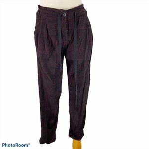 ARITZIA WILFRED Burgundy & Black Printed Pants